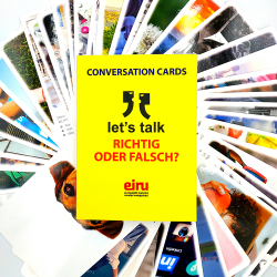 Conversation Cards - Let's talk - German version RICHTIG ODER FALSCH?