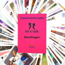 Karty Konwersacyjne - Let's talk - wersja niemiecka BASISFRAGEN